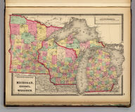 Atlas of the United States. Michigan, Minnesota, and Wisconsin. (by H.H. Lloyd. Published by Stedman, Brown & Lyon, Baltimore. 1873)