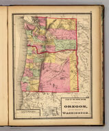 Atlas of the United States. Oregon, and the Territory of Washington. (by H.H. Lloyd. Published by Stedman, Brown & Lyon, Baltimore. 1873)