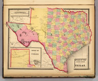 Atlas of the United States. Texas. (by H.H. Lloyd. Published by Stedman, Brown & Lyon, Baltimore. 1873)