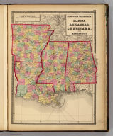 Atlas of the United States. Alabama, Arkansas, Louisiana, and Mississippi. (by H.H. Lloyd. Published by Stedman, Brown & Lyon, Baltimore. 1873)