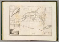 Plan du trace de Canal Erie et du Canal Champlain. Etat de New-York. (with) Plan du Port de Presqu'ile et du Barrage construit pour approfondir son entree. (with) Details de construction du pont de Mr. J. Town. Dessine par le Major Poussin. Grave par (V.?) Adam. (1834)