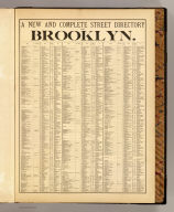 A new and complete street directory of Brooklyn. (1874)