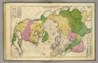 Polar projection of North America & Asia. Comparative, geographical & statistical map of North America adapted to Woodbridge's Geography. Comparative, geographical & statistical map of Asia, Adapted to Woodbridge's Geography. Engraved on steel, by A. Reed. Entered ... 1831 by William C. Woodbridge ... Connecticut. (1837?)