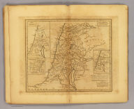 Palaestina. (with) The Tribes. (with) Jerusalem. (with) Places laid down by distance & given on a scale reduced to a third. Auctore D'Anville. Wm. Hoogland, sculpt., N. York. (1814?)