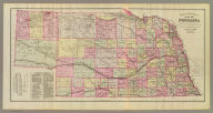 Official topographical map of Nebraska. Compiled from government surveys, official records and personal investigations. Everts & Kirk, publishers, Philadelphia. J.H. Kaefring Lith., 831 Arch St., Phila. (1885)