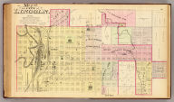 Map of the city of Lincoln. (northern sheet. Philadelphia, Everts & Kirk, 1885)
