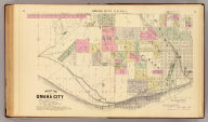 Map of Omaha City. S.E. part. Prepared for this work under the direction of the publishers, assisted by Geo. P. Bemis ... Compiled and drawn by Adin Mann, Civil Engineer. Assisted by Geo. Smith, Co. Surveyor of Douglas Co. (Philadelphia, Everts & Kirk, 1885)