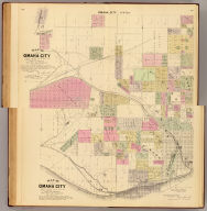 (Composite of) Map of Omaha City. Prepared for this work under the direction of the publishers, assisted by Geo. P. Bemis ... Compiled and drawn by Adin Mann, Civil Engineer. Assisted by Geo. Smith, Co. Surveyor of Douglas Co. (Philadelphia, Everts & Kirk, 1885)