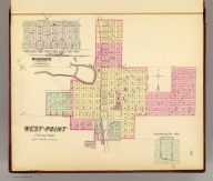 West-Point, Cuming Co. (with) Wisner, Cuming County. (Philadelphia, Everts & Kirk, 1885)