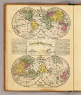 The World on an equatorial projection. Map of the Eastern & Western hemispheres. The World on a polar projection. Map of the Northern & Southern Hemispheres. (with) Map of the most recent Antarctic discoveries. Entered ... 1839 by S. Augustus Mitchell ... Connecticut.