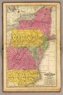 Map of the Middle States and part of the southern. Engraved to illustrate Mitchell's school and family geography. Entered ... 1839 by S. Augustus Mitchell ... Connecticut.