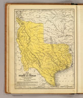 Map of the state of Texas. Engraved to illustrate Mitchell's school and family geography. Entered ... 1846 by S. Augustus Mitchell ... Eastern District of Pennsylvania.