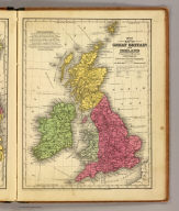 Map of Great Britain and Ireland. Engraved to illustrate Mitchell's school and family geography. J.H. Young Sc. Entered ... 1840 by S. Augustus Mitchell ... Eastern District of Pennsylvania.
