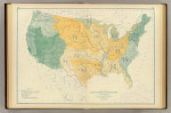 Map of the river systems of the United States compiled by A. von Steinwehr. To which are added certain statistics compiled from the returns of population and industry at the ninth census 1870 by Francis A. Walker. (Julius Bien, Lith., 1874)