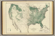 Map showing in five degrees of density the distribution of woodland within the territory of the United States, 1873. Compiled by Wm. H. Brewer. (Julius Bien, Lith., 1874)