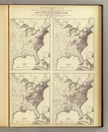 The progress of the nation, 1790-1820. Maps showing in five degrees of density the distribution within the territory east of the 100th meridian of the population of the United States, excluding Indians not taxed. Compiled from the returns of the population at the first, second, third and fourth censuses of the United States, 1790-1800-1810-1820 by Francis A. Walker. (Julius Bien, Lith., 1874)