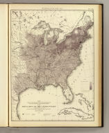 Map showing in five degrees of density, the distribution, within the territory east of the 100th Meridian, of the population of the United States, excluding Indians not taxed. Compiled from the returns of population at the eighth census by Francis A. Walker. (Julius Bien, Lith., 1874)