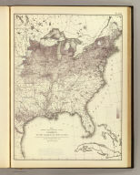 Map showing the proportion of the foreign to the aggregate population. Compiled from the returns of population at the ninth census of the United States 1870. By Francis A. Walker. (Julius Bien, Lith., 1874)