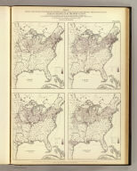 Maps showing the distribution, within the territory of the United States, east of the 100th Meridian, of certain foreign elements of the population. I. according to their number to the square mile, absolute. II. according to their proportion to the aggregate population, relative. Compiled from the returns of population at the ninth census 1870. By Francis A. Walker. (Julius Bien, Lith., 1874)