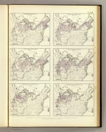 (Maps showing the distribution, within the territory of the United States, east of the 100th Meridian, of certain foreign elements of the population. I. according to their number to the square mile, absolute. II. according to their proportion to the aggregate population, relative. Compiled from the returns of population at the ninth census 1870. By Francis A. Walker. Julius Bien, Lith., 1874)