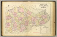 Outline and index map of Boston proper and Roxbury. (1895)
