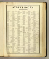 (Index to) Atlas of the city of Cambridge, Massachusetts from actual surveys and official plans by George W. and Walter S. Bromley, civil engineers. Published by G.W. Bromley and Co., 222 S. Fifth St., Philadelphia. 1903.