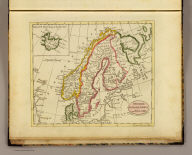 Sweden, Denmark, Norway and Finland. (with) Iceland Isle, drawn to the same scale. Published by J.V. Seaman, 296 Pearl St., N. York. (1821)