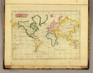 General chart on Mercator's projection. Published by J.V. Seaman, 296 Pearl St., N. York. (1821)
