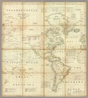 A chart of North and South America including the Atlantic and Pacific Oceans, with the nearest coasts of Europe, Africa and Asia (by John Green]. Publish'd according to Act of Parliament Feb. 19, 1753, by T. Jefferys, Geographer to his Royal Highness the Prince of Wales at the Corner of St. Martins Lane Charing Cross ...
