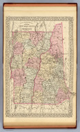 County and township map of the states of New Hampshire and Vermont. (By S. Augustus Mitchell, 1880)