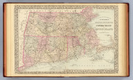 County and township map of the states of Massachusetts, Connecticut and Rhode Island. Drawn and engraved by W.H. Gamble, Philadelphia. Entered ... 1879 by S. Augustus Mitchell ... Washington. (1880)