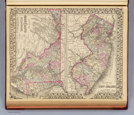 County map of New Jersey. County map of Maryland and Delaware. Drawn and engraved by W.H. Gamble, Philadelphia. Entered ... 1879 by S. Augustus Mitchell ... Washington. (1880)