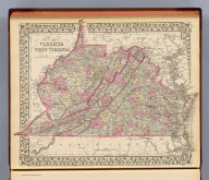 County map of Virginia and West Virginia. Drawn & engd. (by) W.H. Gamble, Phila. Entered ... 1879 by S. Augustus Mitchell ... Washington. (1880)