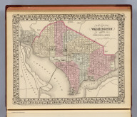 Plan of the city of Washington. The capitol of the United States of America. Drawn and engraved by W.H. Gamble. Entered ... 1879 by S. Augustus Mitchell ... Washington. (1880)