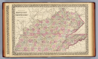 County map of Kentucky and Tennessee. Drawn and engraved by W.H. Gamble, Philadelphia. Entered ... 1879 by S. Augustus Mitchell ... Washington. (1880)