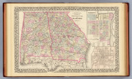 County map of the states of Georgia and Alabama. (with) Savannah, Georgia. (with) City of Atlanta, the capitol of Georgia. Entered ... 1879 by S. Augustus Mitchell ... Washington. (1880)