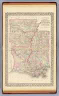 County map of the states of Arkansas, Mississippi and Louisiana. Drawn and engraved by W.H. Gamble, Philadelphia. Entered ... 1879 by S. Augustus Mitchell ... Washington. (1880)