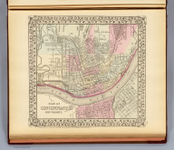 Plan of Cincinnati and vicinity. Entered ... 1879 by S. Augustus Mitchell ... Washington. (1880)