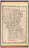 County & township map of the states of Iowa and Missouri. Drawn & engraved by W.H. Gamble, Philadelphia. Entered ... 1879 by S. Augustus Mitchell ... Washington. (1880)