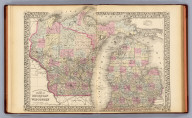 County and township map of the states of Michigan and Wisconsin. Drawn and engraved by W.H. Gamble, Philadelphia. Entered ... 1879 by S. Augustus Mitchell ... Washington. (1880)