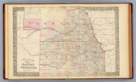 County & township map of the states of Kansas and Nebraska. Drawn and engraved by W.H. Gamble, Philadelphia. Entered ... 1879 by S. Augustus Mitchell ... Washington. (1880)
