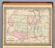 County map of Arizona and New Mexico. Entered ... 1879 by S. Augustus Mitchell ... Washington. (1880)