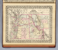 Map of Oregon, Washington, Idaho, and part of Montana. Entered ... 1879 by S. Augustus Mitchell ... Washington. (1880)