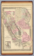 County map of the state of California. (with) San Francisco. (with) San Francisco Bay and vicinity. Entered ... 1879 by S. Augustus Mitchell ... Washington. (1880)