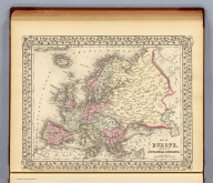 Map of Europe, showing its gt. political divisions. Constructed & engraved by W. Williams, Phila. Entered ... 1879 by S. Augustus Mitchell ... Washington. (1880)