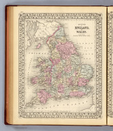 County map of England, and Wales. Entered ... 1879 by S. Augustus Mitchell ... Washington. (1880)