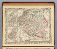 Russia in Europe, Sweden, and Norway. (with) Map of Denmark. (with) Map of Holland and Belgium. Entered ... 1879 by S. Augustus Mitchell ... Washington. (1880)