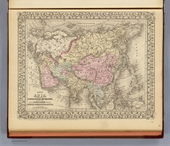 Map of Asia showing its gt. political divisions, and also the various routes of travel between London & India, China & Japan &c. Constructed & engraved by W. Williams, Phila. Entered ... 1879 by S. Augustus Mitchell ... Washington. (1880)