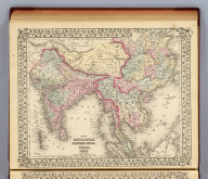 Map of Hindoostan, Farther India, China, and Tibet. Constructed & engraved by W. Williams, Phila. Entered ... 1879 by S. Augustus Mitchell ... Washington. (1880)