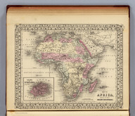 Map of Africa, showing its most recent discoveries. (with) Island of St. Helena. Constructed & engraved by W. Williams, Philadelphia. Entered ... 1879 by S. Augustus Mitchell ... Washington. (1880)
